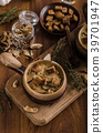 Rustic mushrooms soup 39701947