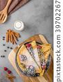 Cinnamon pancakes with blueberries 39702267