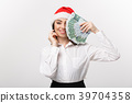 Christmas and finance concept - Young business 39704358