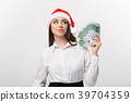 Christmas and Financial concept - Young confident 39704359