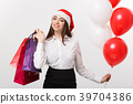 Christmas Concept - beautiful caucasian business 39704386