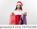 Christmas Concept - beautiful caucasian business 39704389