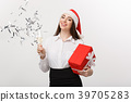 Christmas Celebration - Young beautiful business 39705283