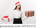Christmas Concept - young happy caucasian business 39705373
