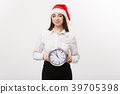 Time management concept - Young happy business 39705398