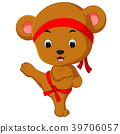 cute bear practicing karate 39706057