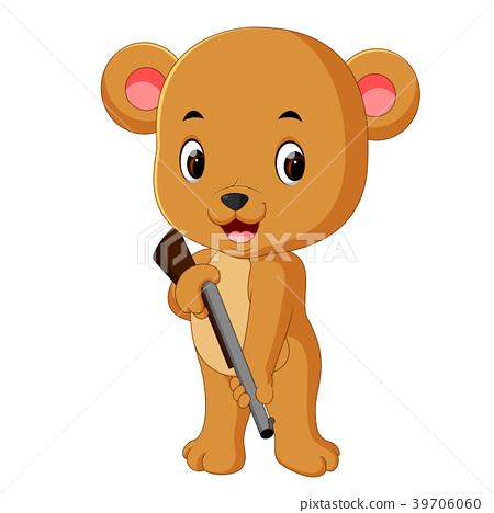 bear holding gun 39706060