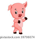 funny pig cartoon 39706074