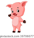 funny pig cartoon 39706077