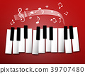 Piano Keys. Music Notes and Staff 39707480