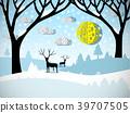 animal deer silhouette 39707505