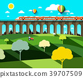 train, landscape, bridge 39707509