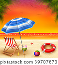 Summer Holidays with view sunset background 39707673
