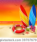 Summer Holidays with view sunset background 39707679