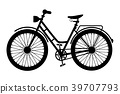 Bike Icon. Black Bicycle Symbol Silhouette 39707793