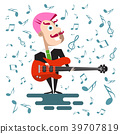 Singer in Suit with Bass Guitar 39707819