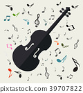 violin music vector 39707822