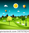 Nature Landscape. Vector Park Cartoon 39707824
