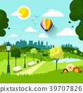 City Park. Vector Nature Landscape. 39707826