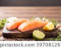 Fresh raw salmon fillet 39708126