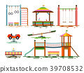 Vector Kids Playground Flat Design Icons 39708532