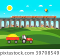 countryside, landscape, vector 39708549