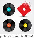 record, vinyl, vector 39708769