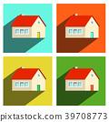 House Flat Icons Set Isolated on white Background 39708773