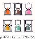 Sand Clock. Vector Retro Flat Design Icons Set. 39709055