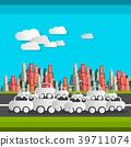 Paper Cut Cars and Clouds 39711074