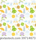 Illustration seamless pattern of rainy season 39714673