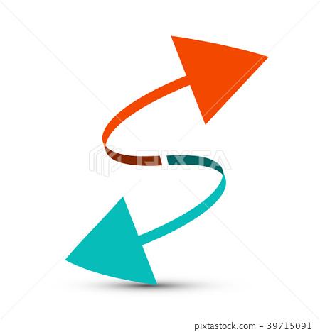 Arrows. Red and Blue Arrow. Vector. 39715091