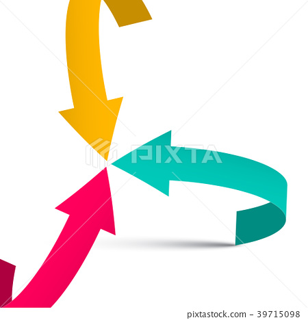 Three Arrows on White Background. Vector 39715098