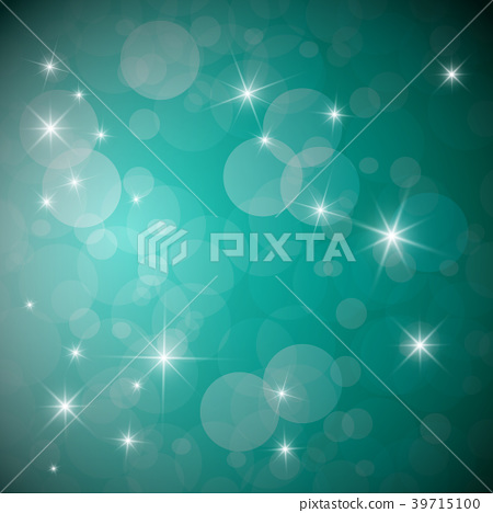 Blue Background with Stars and Transparent Circles 39715100