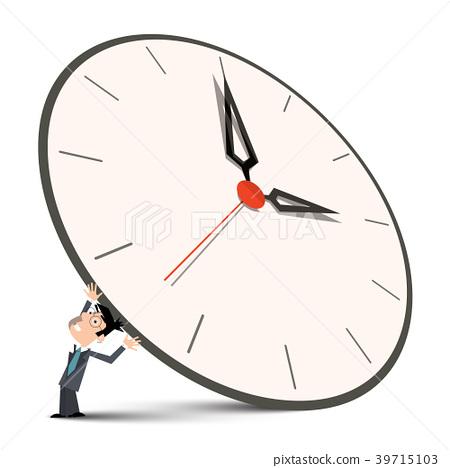 Man Holding Big Clock 39715103