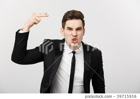 Business situation Concept: Frustrated business 39715916