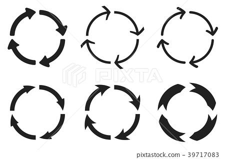 Arrows in circular motion. Arrow combinations 39717083