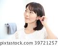 ear cleaning, cotton swab, ear 39721257