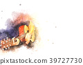 Abstract playing guitar on watercolor painting 39727730