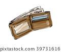지갑, 가죽 제품, 돈 39731616