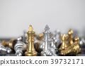 King VS King for the chess strategy to win game. 39732171