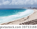 Cancun beach panorama view in bad weather 39733168