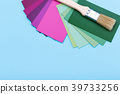 Brush for painting and color palette guide 39733256