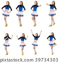 Cheerleader isolated on the white background 39734303