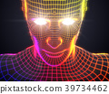 artificial intelligence concept with virtual human 39734462