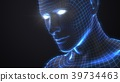 artificial intelligence concept with virtual human 39734463