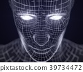 artificial intelligence concept with virtual human 39734472