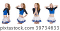 Cheerleader isolated on the white background 39734633