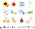 夏天 夏 图标 39734816