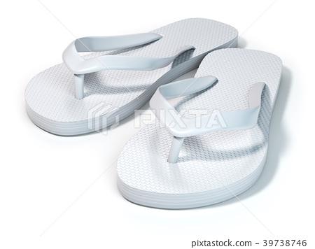 930f9f033d00 White flip flops isolated on white background. - Stock Illustration ...